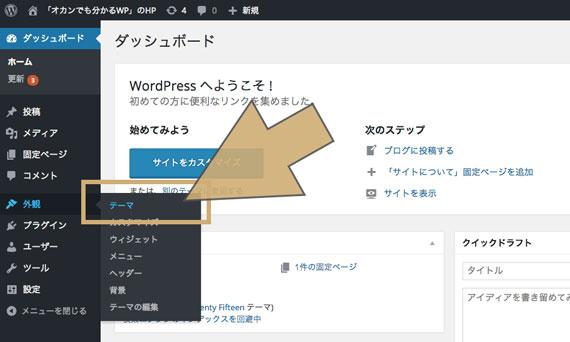 WordPress管理画面トップ